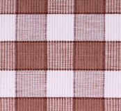 Linen white and brown fabric. As background Stock Photo