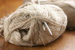 Linen yarn close-up Stock Photo