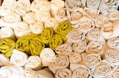 Linens που τυλίγονται μαλακά Στοκ Φωτογραφίες