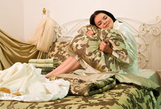 Linens, bedding royalty free stock photography