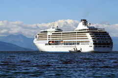 The liner. Kamchatka Royalty Free Stock Image