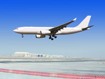 Liner at the airport Royalty Free Stock Image