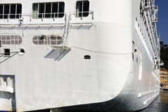 Liner in the Nice harbour (France). Liner along landing stage in the Nice harbour Stock Photo