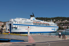 Liner in Port de Nice. Royalty Free Stock Images