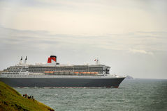 Liner Queen Mary 2. Queen Mary 2 quitte Brest le 19 juillet 2009 Royalty Free Stock Photo