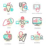 Liner set business concept, vector Stock Images
