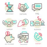 Liner set business concept, vector Royalty Free Stock Photo