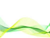 Lines. Green and yellow wave abstract  background Royalty Free Stock Photos