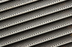 Lines. Parallel lines; detail of a metal shutter Royalty Free Stock Images