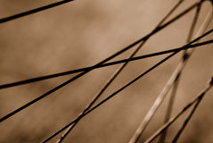 Lines. Wheel spokes criss-crossing each other Royalty Free Stock Photography