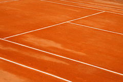 Lines. A simple background with mud tennis court Stock Images