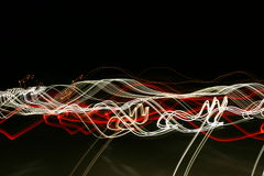 Lines. Blurred, abstract lines, head and taillights of cars stock photo
