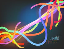 Lines abstract translucent colors scene Stock Image