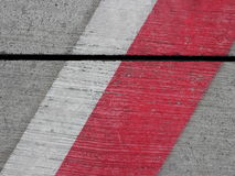 Lines on airport parking platform Royalty Free Stock Images