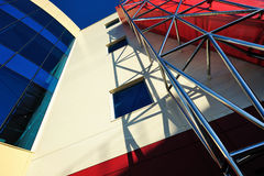 Lines And Color In Architecture Royalty Free Stock Photography