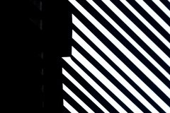 Free Lines And White Stripes On Black Background With Stone Texture, Copy Space. Stock Photos - 168294893