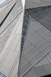 Lines and angles. On a modern building stock images