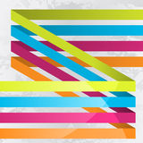 Lines background. Background with four colorful lines Stock Photography