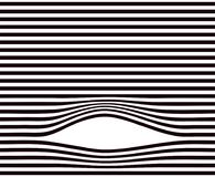 Lines background. Black and white minimal geometric striped pattern. Straight parallel with curve dynamic effect place. Horizontal repeatable. Vector Stock Photo