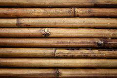 Lines of bamboo fence Royalty Free Stock Photo