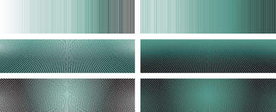 Lines Banners 2. Six Vector Banners Based on Lines (editable stroke width, cropping can be slightly changed - more pattern inside clipping path Royalty Free Stock Images