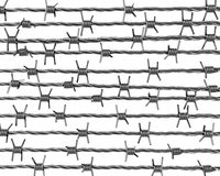 Lines of barbed wire Stock Photos