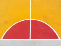 Lines of the basketball court. Close up Royalty Free Stock Photos