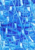 Lines of Blue Abstract Royalty Free Stock Photos