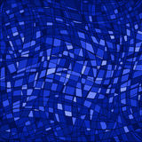 Lines blue mosaic background Stock Photography
