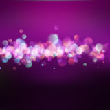 Lines with bokeh defocused lights. EPS 10. Vector file included Royalty Free Stock Image