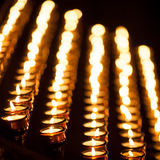 Lines of candles Stock Images
