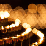 Lines of candles Royalty Free Stock Image