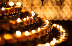 Lines of candles Royalty Free Stock Photography