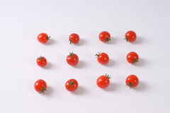 Lines of cherry tomatoes Stock Photography