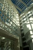 Lines and circles. Interior view of the `Atrium´, which is The Hague´s city hall Royalty Free Stock Photos