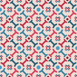 Lines and circles pattern. Light background, blue and dark circles and lines seamless pattern Stock Photography