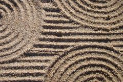Lines and circles in the sand Stock Image