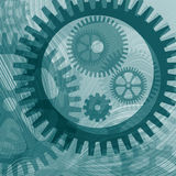 Lines and cogs Royalty Free Stock Photography
