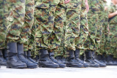 Lines of commando soldiers Royalty Free Stock Image