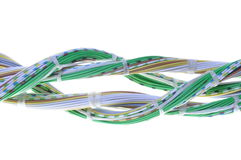 Lines of computer cables Stock Image