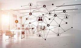 Networking and wireless connection as concept for effective modern business Stock Images