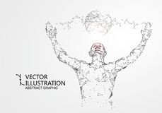 Lines connected to people, symbolizing the meaning of artificial intelligence. vector illustration