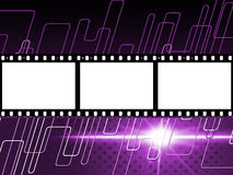 Lines Copyspace Indicates Camera Film And Celluloid. Filmstrip Mauve Showing Text Space And Border Stock Image