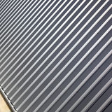 Lines in corrugated metal Royalty Free Stock Photo