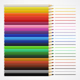 Lines and crayons Royalty Free Stock Photos