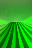 Lines and curves. Abstract photograph with green lines and curves, inside of a circus tent Royalty Free Stock Photography