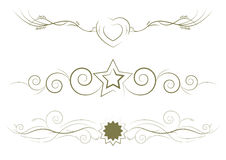 lines dekorativ regel Arkivfoto