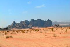 Lines in the Desert. Desert of Wadi Rum, Jordan stock images
