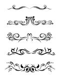 Lines. Design elements of different styles. Made vectors. Grouped royalty free illustration