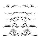 Lines. Design elements of different styles. Made s. Grouped royalty free illustration